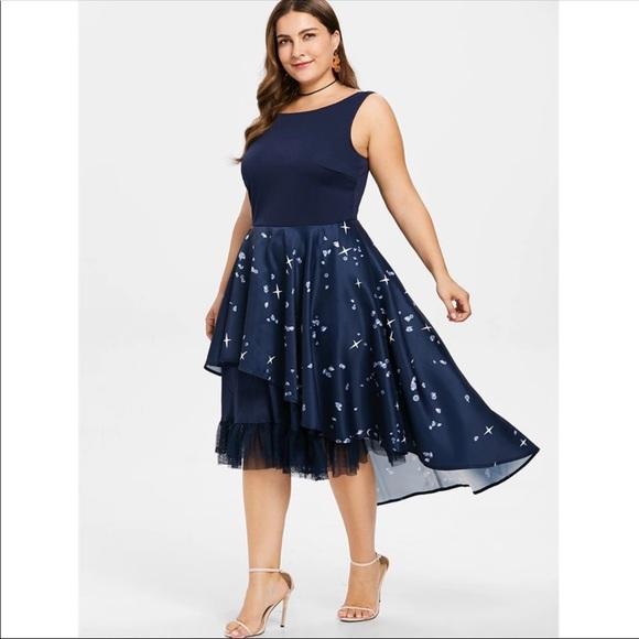 PlusSize Vintage Retro Party Elegant Dress 18W 20W NWT